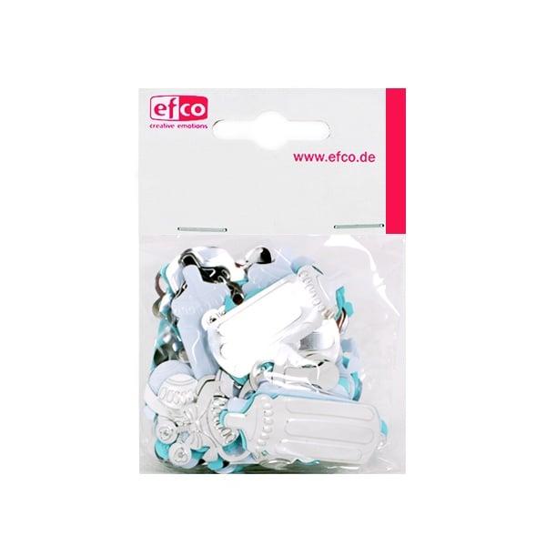 Пайети, Babymix, 25 - 45 mm, ~ 1000 бр, светлосини, бели и сребристи