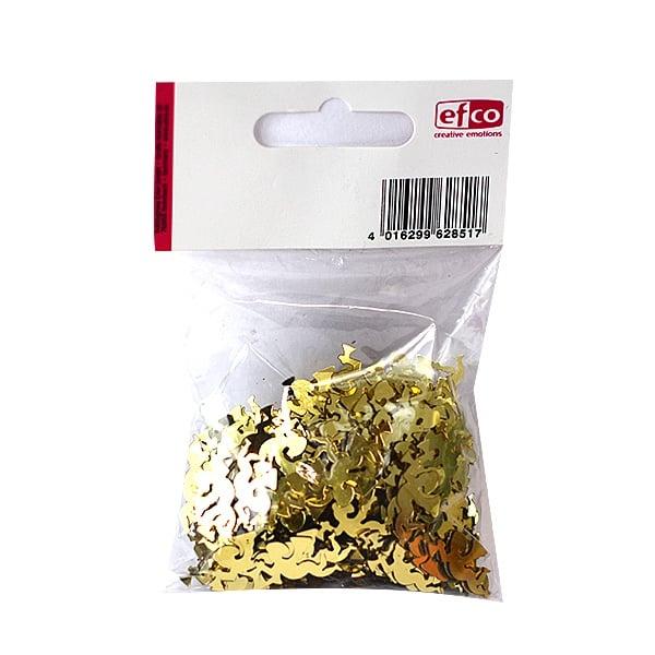 Алуминиево фолио, 20 х 30 см / 0,15 мм, 3 бр., двуцветно - червено и сребристо Пайети, Engel, 11 mm, ~ 500 бр., златисти