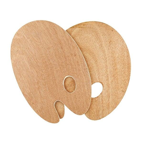 Палитри дървени SOLO Goya овална / правоъгълна Палитра дървена 5 mm SOLO Goya, 25 х 30 cm, овална