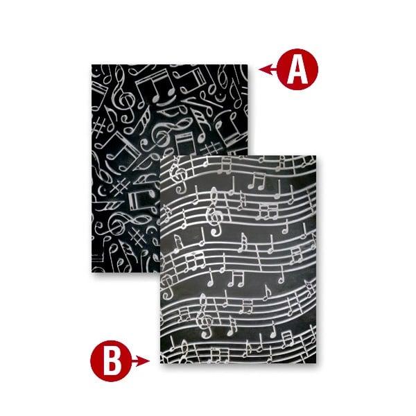 """Папка за релеф върху хартия, """"Музика"""", ~ 12,7 x 17,8 cm,"""
