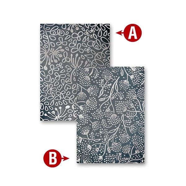 """Папка за релеф върху хартия, """"Странна флора"""" ~ 12,7 x 17,8 cm"""