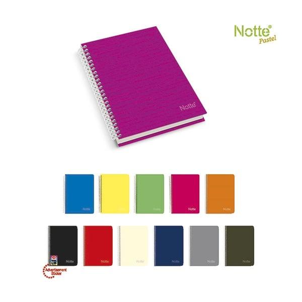 Бележник Notte Pastel, C5, спирала, твърда корица, 120 л., ред, 70 g/m