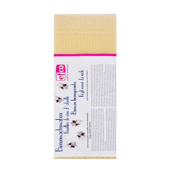 Пчелна восъчна пита, 2 листа + 2 фитила, 30 x 10 cm,