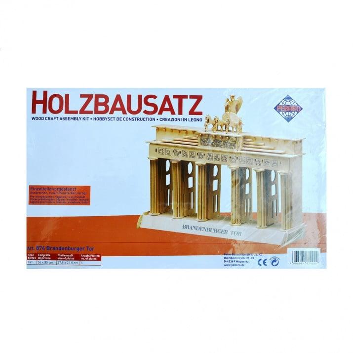Алуминиево фолио, 20 х 30 см / 0,15 мм, 3 бр., двуцветно - червено и сребристо Дървен комплект за сглобяване, Брабденбурската порта