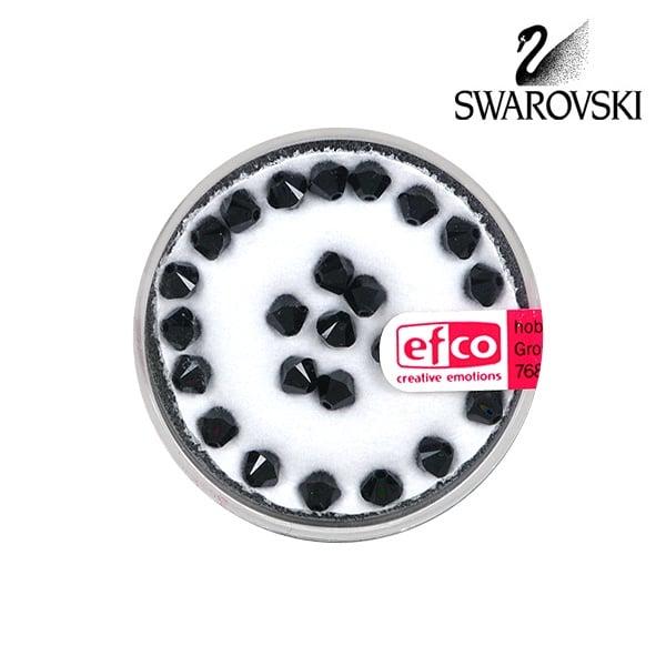 Перла многостенна Swarovski, 4 mm, 25 бр. Перла многостенна Swarovski, 4 mm, 25 бр., черен кехлибар