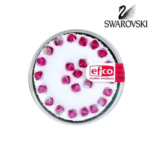 Перла многостенна Swarovski, 4 mm, 25 бр. Перла многостенна Swarovski, 4 mm, 25 бр., фуксия