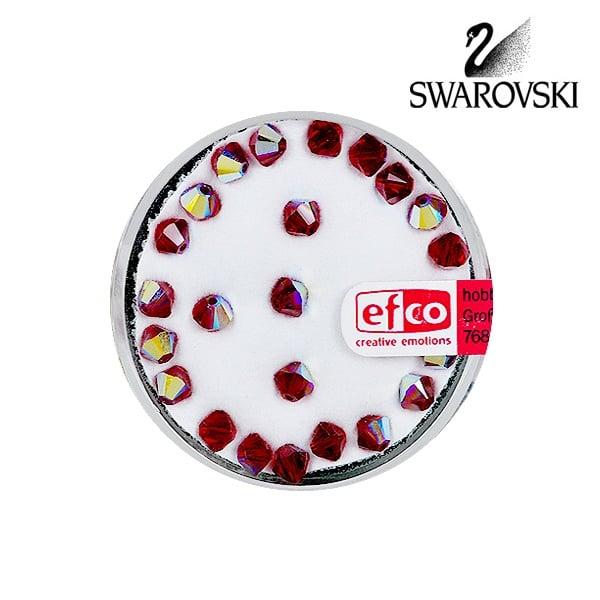Перла многостенна Swarovski, 4 mm, 25 бр. Перла многостенна Swarovski, 4 mm, 25 бр., сиам - АВ