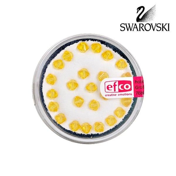 Перла многостенна Swarovski, 4 mm, 25 бр. Перла многостенна Swarovski, 4 mm, 25 бр., светъл топаз