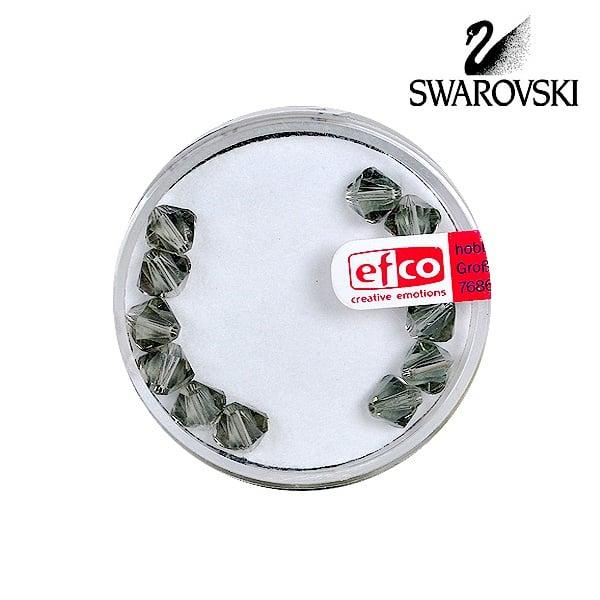 Перла многостенна Swarovski, 6 mm, 12 бр. Перла многостенна Swarovski, 6 mm, 12 бр., черен диамант