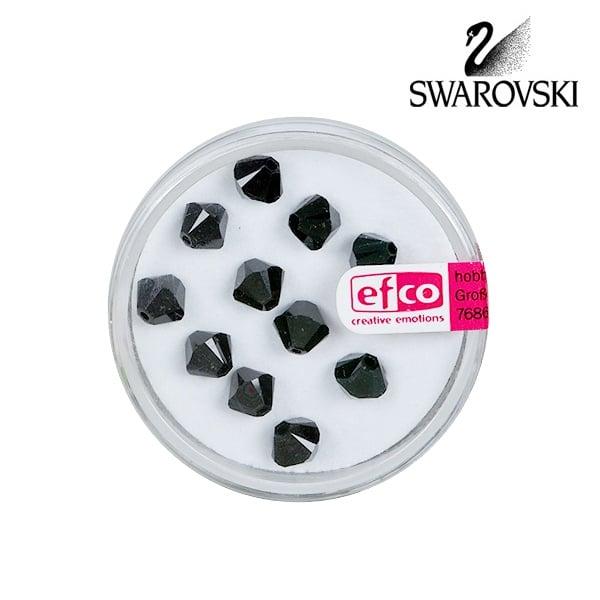 Перла многостенна Swarovski, 6 mm, 12 бр. Перла многостенна Swarovski, 6 mm, 12 бр., черен кехлибар