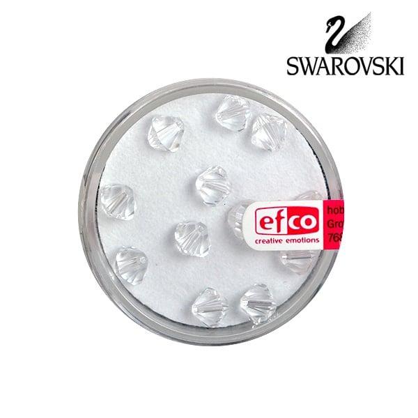 Перла многостенна Swarovski, 6 mm, 12 бр. Перла многостенна Swarovski, 6 mm, 12 бр., кристал
