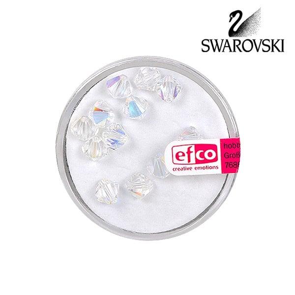 Перла многостенна Swarovski, 6 mm, 12 бр. Перла многостенна Swarovski, 6 mm, 12 бр., кристал - АВ