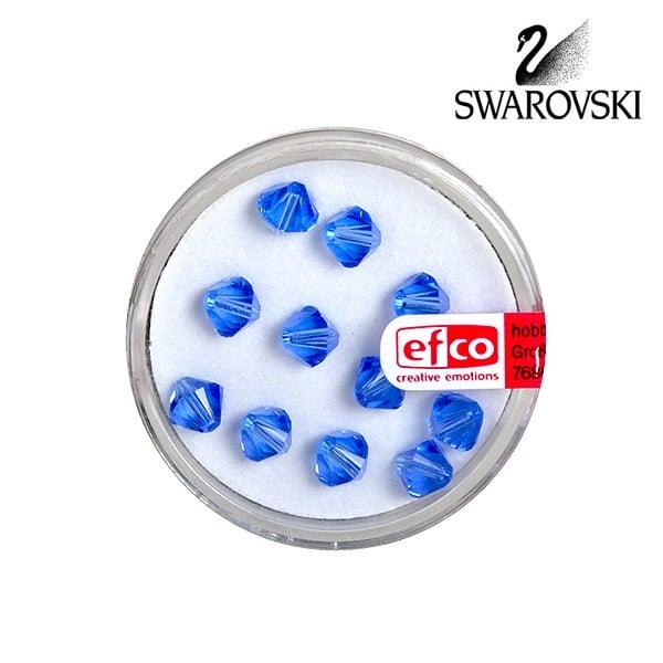 Перла многостенна Swarovski, 6 mm, 12 бр. Перла многостенна Swarovski, 6 mm, 12 бр., сапфир