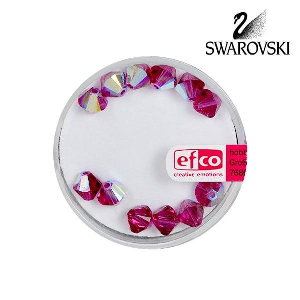 Перла многостенна Swarovski, 6 mm, 12 бр. Перла многостенна Swarovski, 6 mm, 12 бр., сиам - АВ