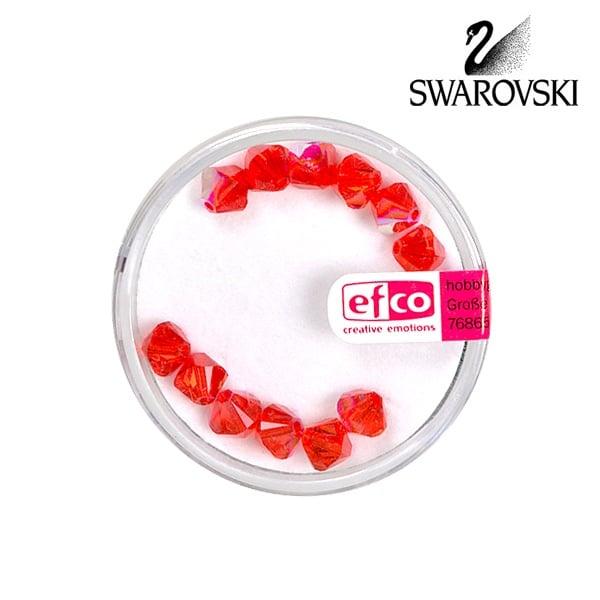 Перла многостенна Swarovski, 6 mm, 12 бр. Перла многостенна Swarovski, 6 mm, 12 бр., светъл сиам - АВ