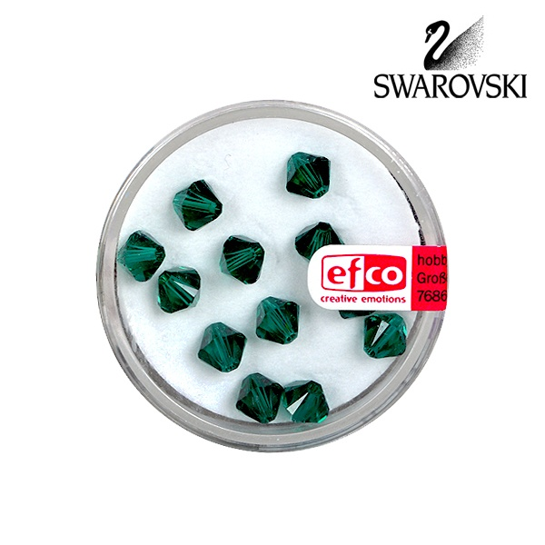 Перла многостенна Swarovski, 6 mm, 12 бр. Перла многостенна Swarovski, 6 mm, 12 бр.,изумруд