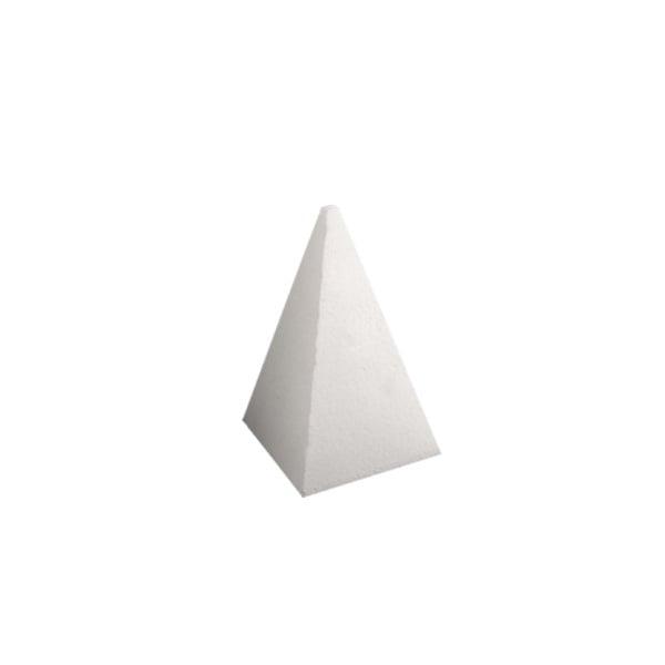 Пирамида от стиропор, бял, H 150 mm