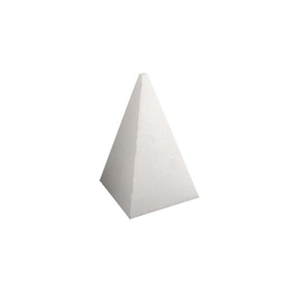 Пирамида от стиропор, бял, H 200 mm