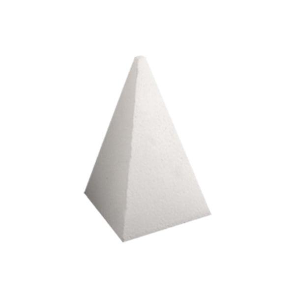 Пирамида от стиропор, бял, H 500 mm