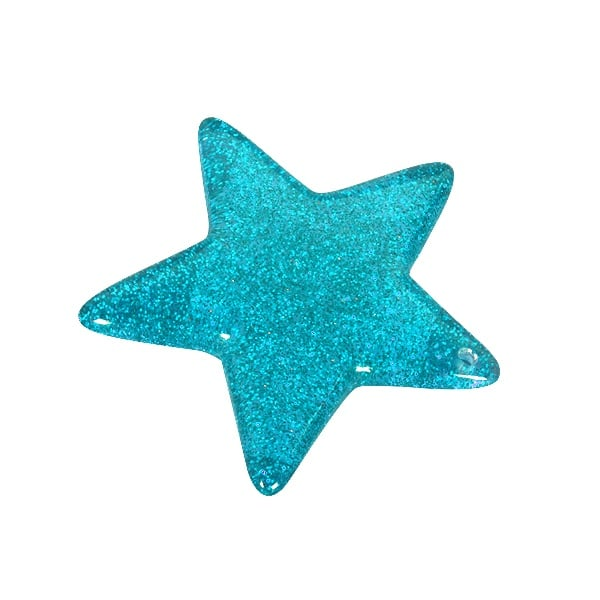 Пластмасова звезда, 4,8 см, тюркоазена