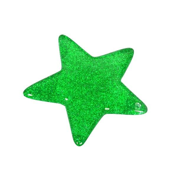 Пластмасова звезда, 4,8 см, зелена