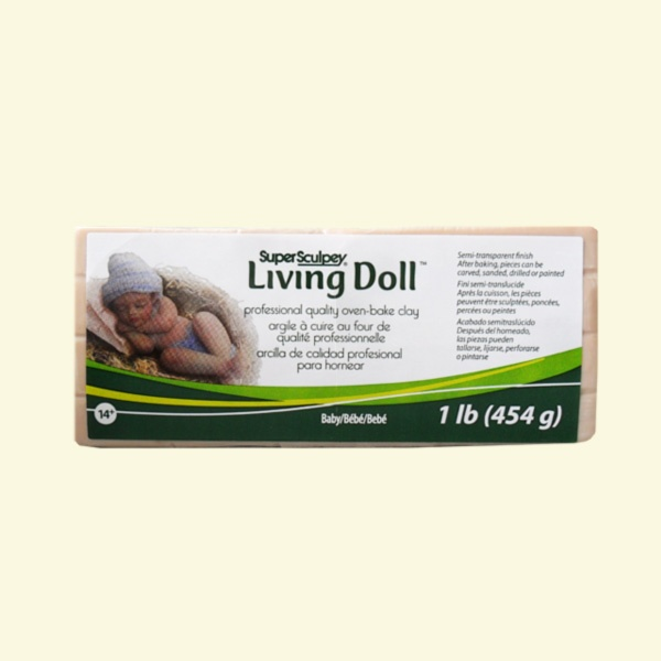 Полимерна глина Living Doll Super Sculpey Полимерна глина Living Doll Super Sculpey, 454g, бебе