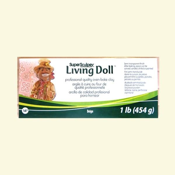 Полимерна глина Living Doll Super Sculpey Полимерна глина Living Doll Super Sculpey, 454g, бежов