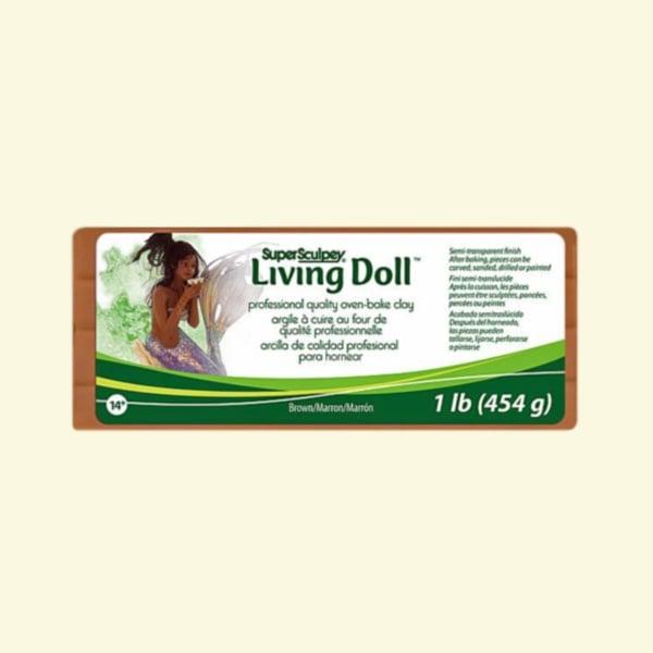 Полимерна глина Living Doll Super Sculpey Полимерна глина Living Doll Super Sculpey, 454g, кафяв