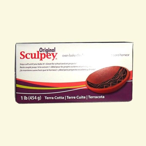 Полимерна глина Original TerraCotta Sculpey, 454g, червено-кафяв