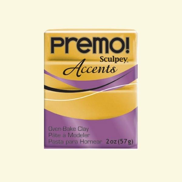 Полимерна глина Premo! Accents Sculpey, 57g Полимерна глина Premo! Accents Sculpey, 57g, 18K злато