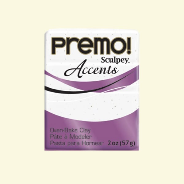 Полимерна глина Premo! Accents Sculpey, 57g Полимерна глина Premo! Accents Sculpey, 57g, бял гранит