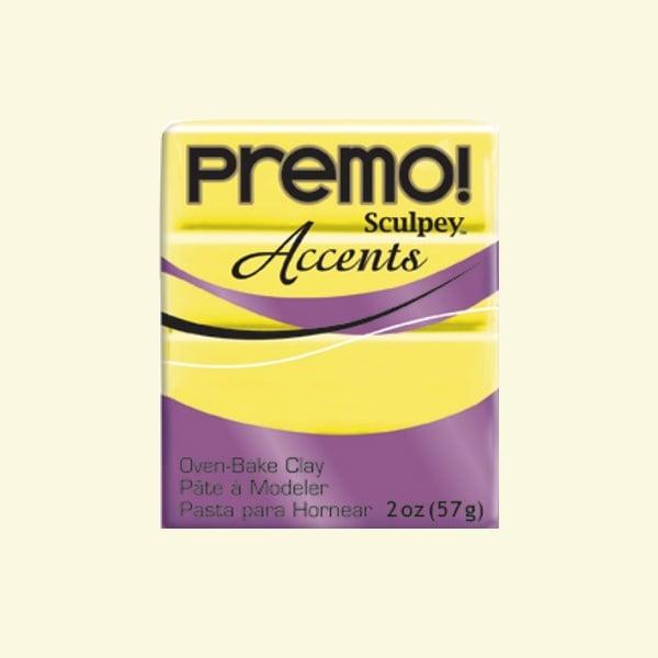Полимерна глина Premo! Accents Sculpey, 57g Полимерна глина Premo! Accents Sculpey, 57g, полупрозрачно жълто