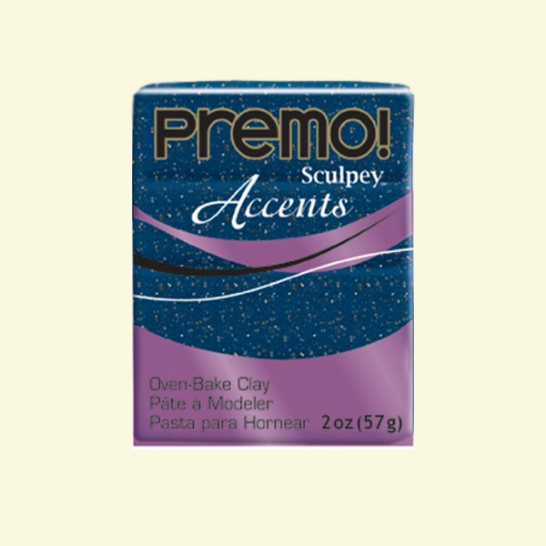 Полимерна глина Premo! Accents Sculpey, 57g Полимерна глина Premo! Accents Sculpey, 57g, син гранит