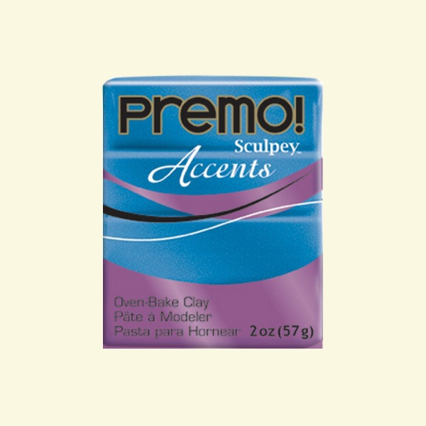 Полимерна глина Premo! Accents Sculpey, 57g Полимерна глина Premo! Accents Sculpey, 57g, син пясъчник