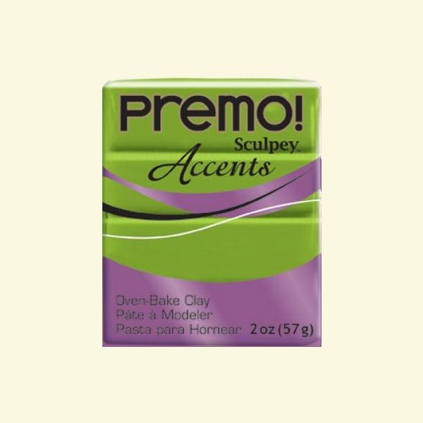 Полимерна глина Premo! Accents Sculpey, 57g Полимерна глина Premo! Accents Sculpey, 57g, яркозелено перлено