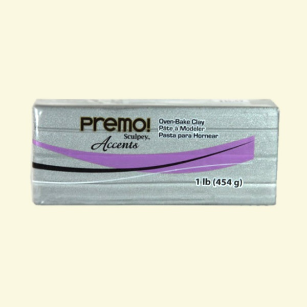 Полимерна глина Premo! Sculpey Полимерна глина Premo! Sculpey, 454g, сребърно