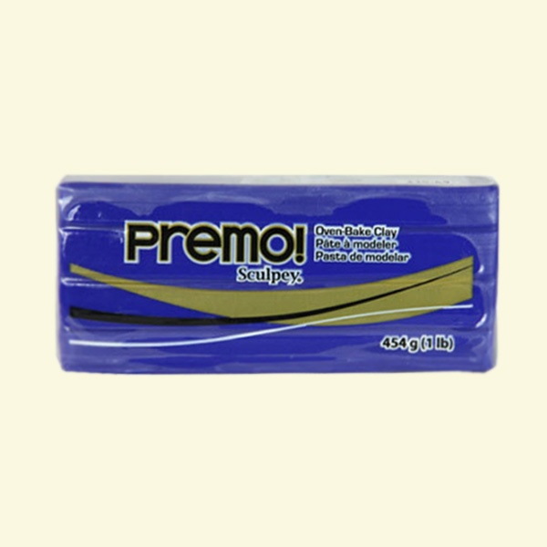 Полимерна глина Premo! Sculpey Полимерна глина Premo! Sculpey, 454g, ултрамарин със син оттенък