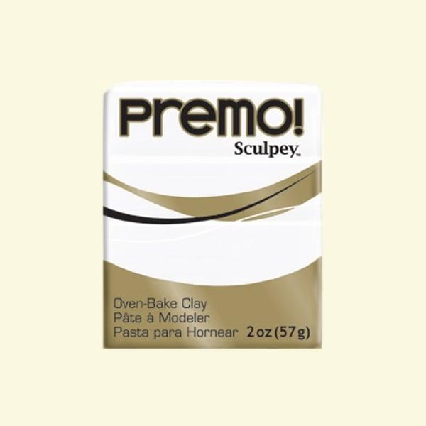 Полимерна глина Premo! Sculpey Полимерна глина Premo! Sculpey, 57g, бяло
