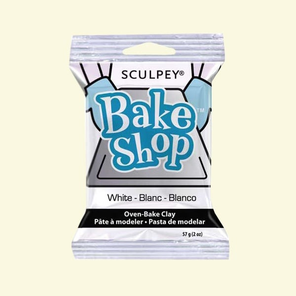 Полимерна глина Sculpey Bake Shop, 57g Полимерна глина Sculpey Bake Shop, 57g, бяло