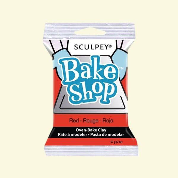 Полимерна глина Sculpey Bake Shop, 57g Полимерна глина Sculpey Bake Shop, 57g, червено