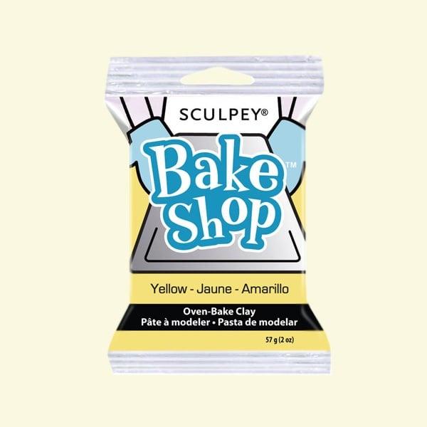 Полимерна глина Sculpey Bake Shop, 57g Полимерна глина Sculpey Bake Shop, 57g, жълто
