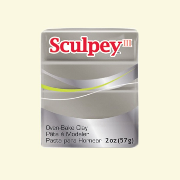 Полимерна глина Sculpey III Полимерна глина Sculpey III, 57g, калаено сиво