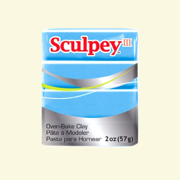 Полимерна глина Sculpey III Полимерна глина Sculpey III, 57g, перлено светло синьо