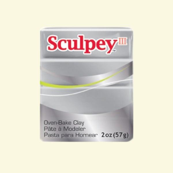 Полимерна глина Sculpey III Полимерна глина Sculpey III, 57g, сребърно сиво