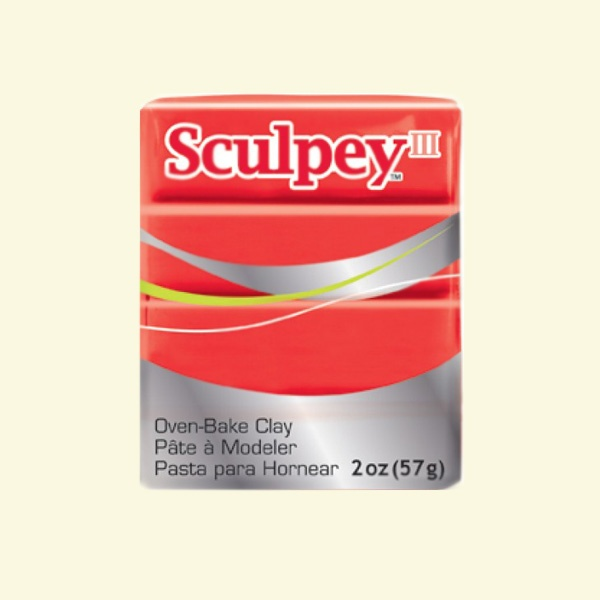 Полимерна глина Sculpey III Полимерна глина Sculpey III, 57g, топло червено
