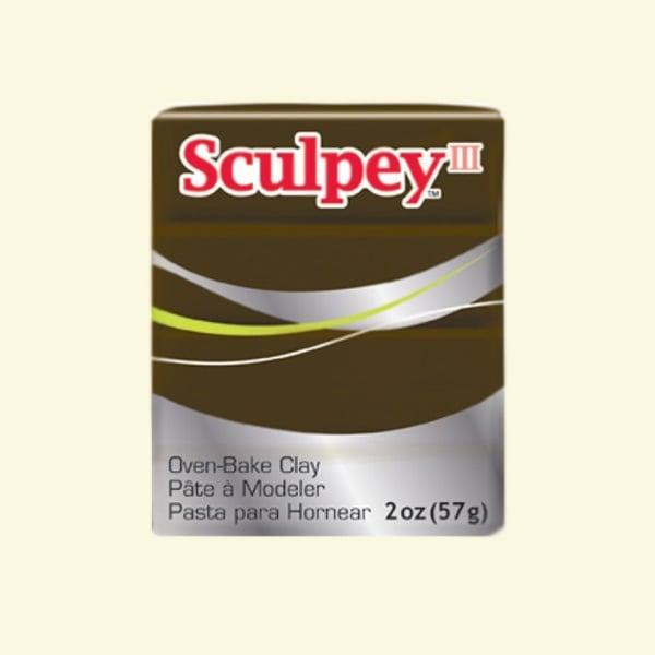 Полимерна глина Sculpey III Полимерна глина Sculpey III, 57g, велурено кафяво