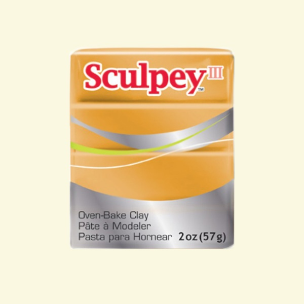 Полимерна глина Sculpey III Полимерна глина Sculpey III, 57g, златно
