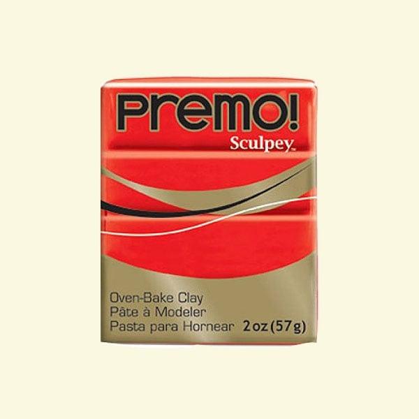 Полимерна глина Premo! Sculpey Полимерна глина Premo! Sculpey, 57g, кадмий с червен оттенък