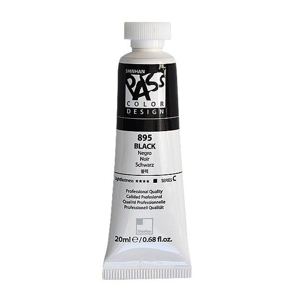 Постерна боя на водна основа PASS COLOR, 20 ml Постерна боя на водна основа PASS COLOR, 20 ml, Black