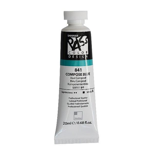 Постерна боя на водна основа PASS COLOR, 20 ml Постерна боя на водна основа PASS COLOR, 20 ml, Compose Blue